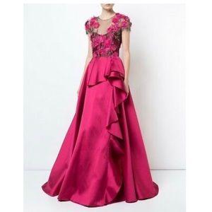 1978334a Marchesa Notte evening gown size 12 dark pink